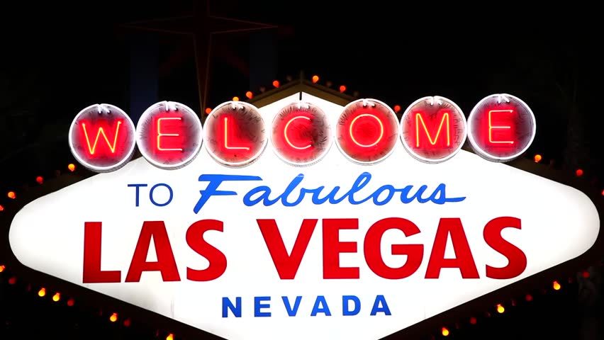 Welcome to fabulous Las Vegas sign on the Vegas strip Las Vegas Nevada US | Shutterstock HD Video #5657522