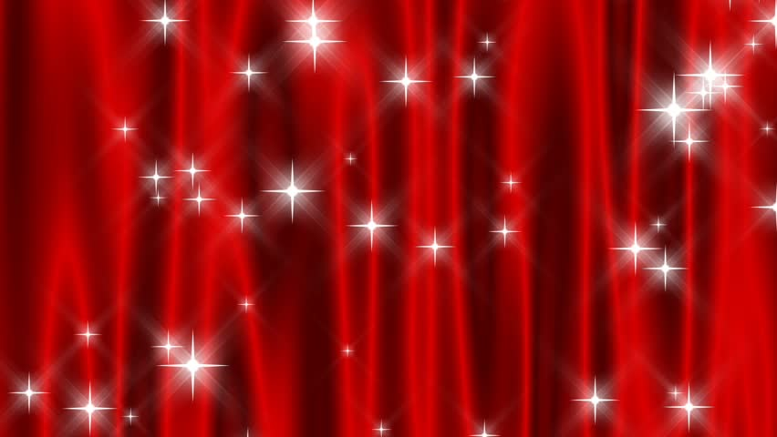 HD 720p Loop-Red starry curtain abstract with continuously falling and periodically shooting stars