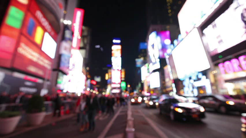 New York City Times Square Manhattan Background Out Of