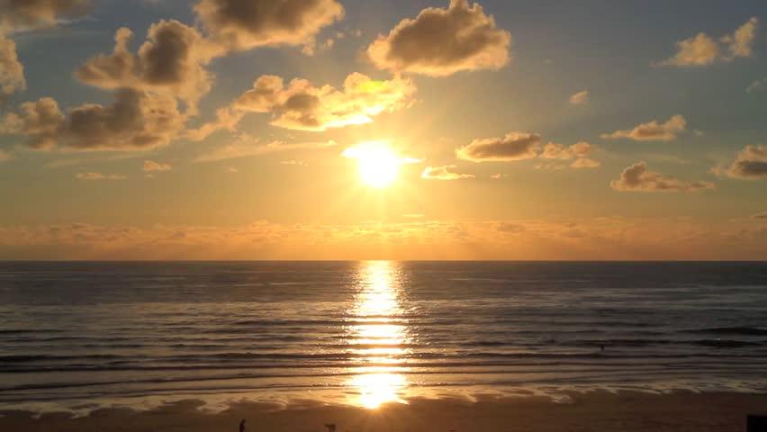Beautiful summer beach during sunset