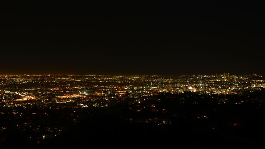 Los Angeles Night View 34 Timelapse Traffic   Shutterstock HD Video #5702942