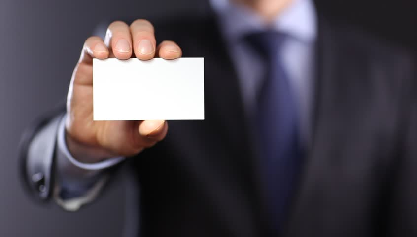 Stock Video Clip Of Man 39 S Hand Showing Business Card Closeup Shutterstock