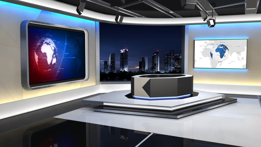 This is a 3d News studio. It contains multiple camera angles