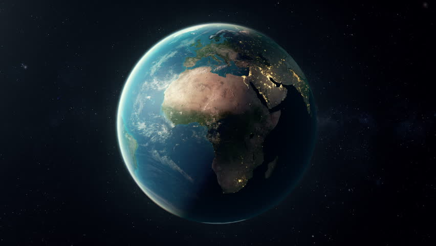 A seamless looping earth. A matte is added in last 25 frames so the animation can be placed over your own background.  Check out a 4k still here: http://www.lucidpixel.nl/img/Stills/EarthLoop_4K.jpg | Shutterstock HD Video #5762702
