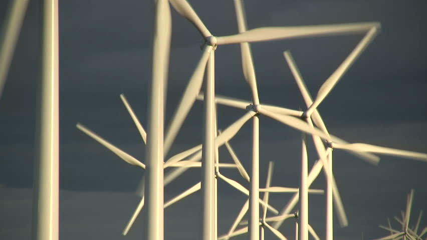 Wind farm  /   Windmills converting wind energy into electricity