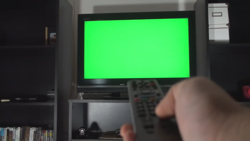 Male Hand With TV Remote Switching Channels On A Green Screen TV Point Of View   Shutterstock HD Video #5772539