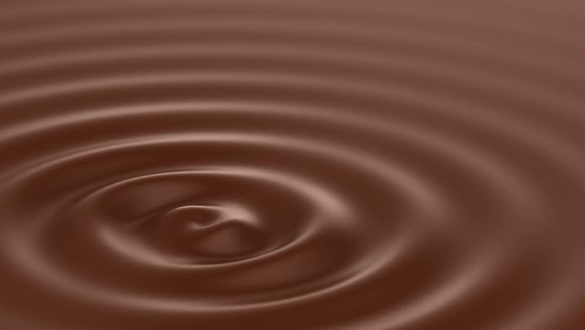 Liquid chocolate texture