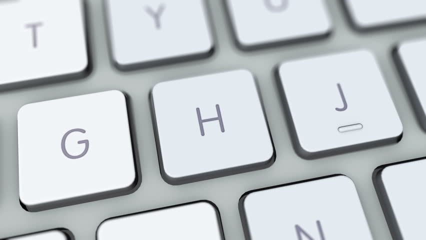 Crack button on computer keyboard. Key is pressed. User makes search, enters query into browser using favorite search engine, pressing button and waiting for search results to appear | Shutterstock HD Video #5839502