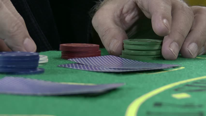 4K Poker Table Casino Gambling Game Setup  - Playing Tokens Chips 4K 3840 x 2160 ultra high definition UHD footage | Shutterstock HD Video #5849972