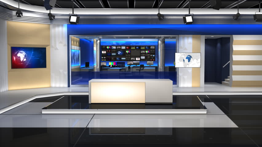 News Studio, an 8-second Zoom Stock Footage Video (100% Royalty-free)  5891642 | Shutterstock