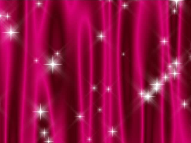 480p loop of abstract deep pink curtain with falling and shooting stars.