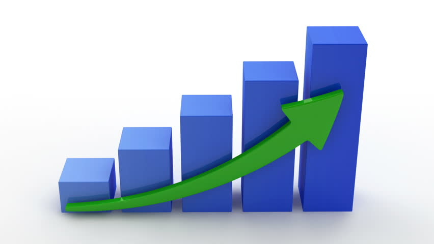 Animation of Growing Business Chart on white background. HQ Video Clip with Alpha Channel   Shutterstock HD Video #5931992