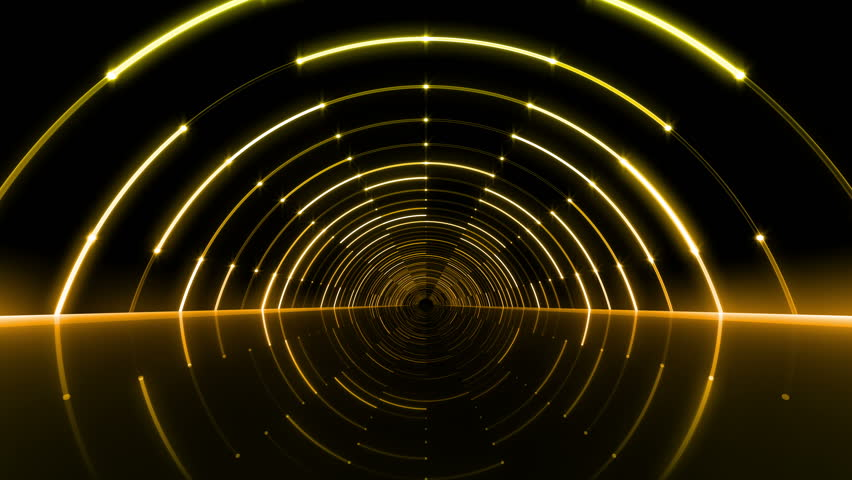 Neon Tube Tunnel.