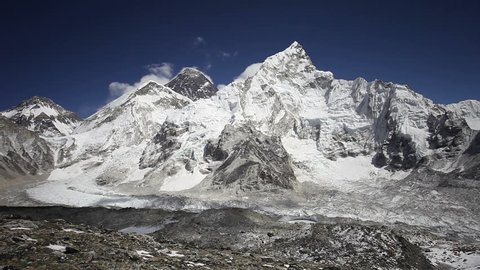 Everest, Nuptse and Lhotse mountains (view from Kala Patthar), Himalaya, Nepal.