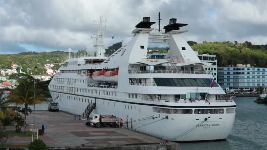 CASTRIES ST LUCIA JAN Loading Supplies For Departure - Cruise ship supplies