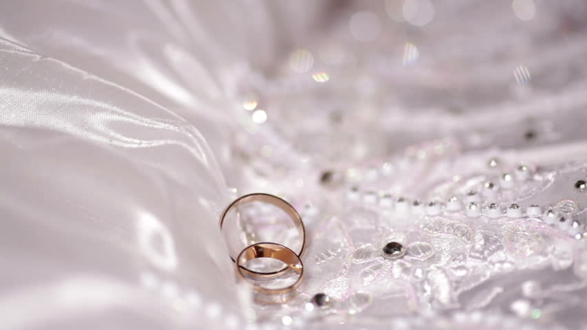 Wedding Gold Rings The Dress The Bride Stock Footage Video