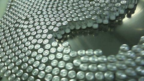 Medicine bottles in pharmaceutical factory