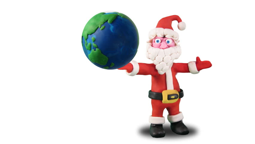 Santa Claus holds world - plasticine loop. Stop motion - HD stock footage clip  sc 1 st  Shutterstock & Jack In The Box Matte Included. Stock Footage Video 5171765 ... Aboutintivar.Com