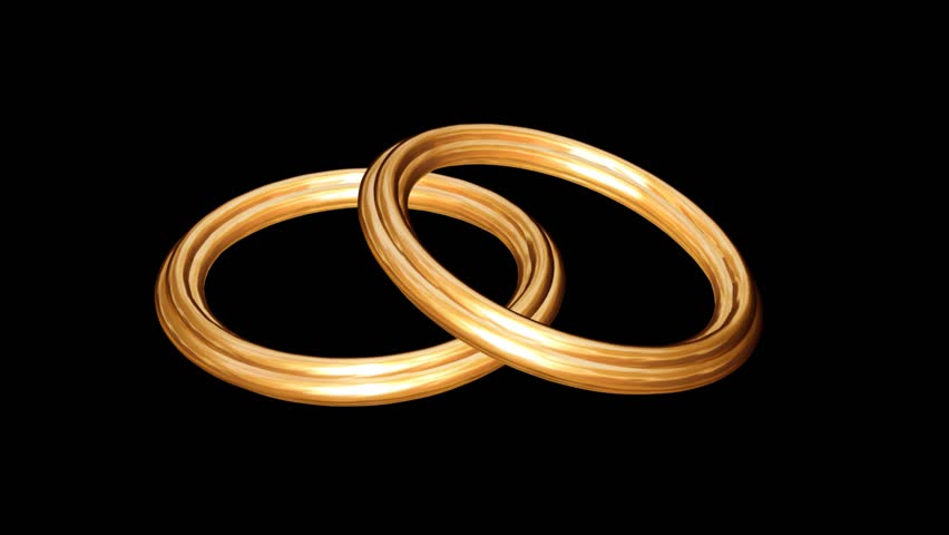 Two Gold Rings Stock Footage Video