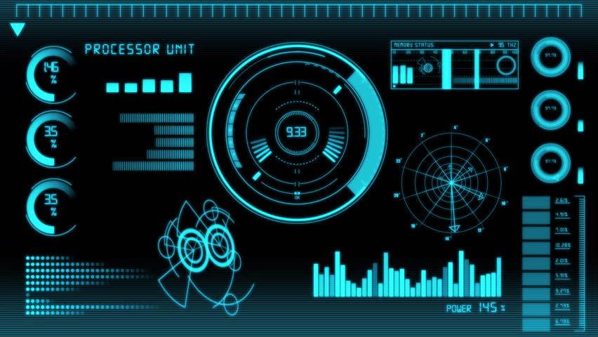 Futuristic Technology Interface Computer Data Screen | Shutterstock HD Video #6021590