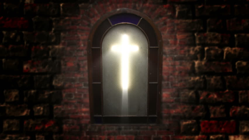 Church Stain Glass Cross