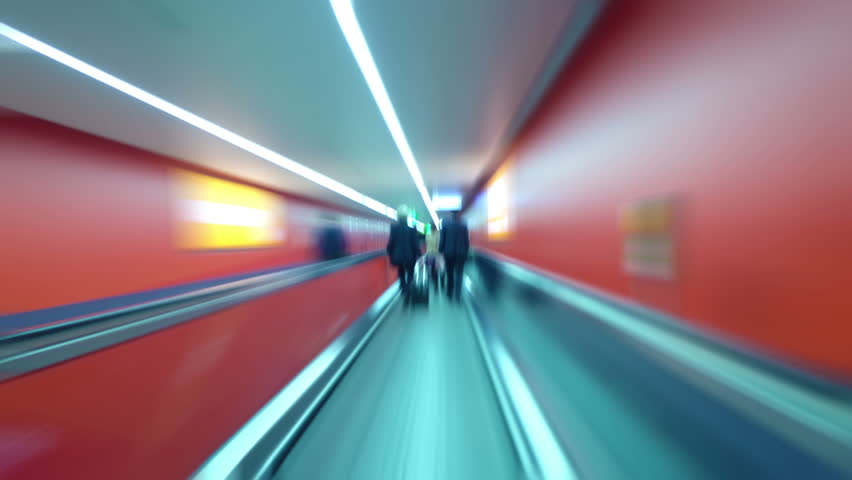 Rush hour underground tunnel | Shutterstock HD Video #6037712
