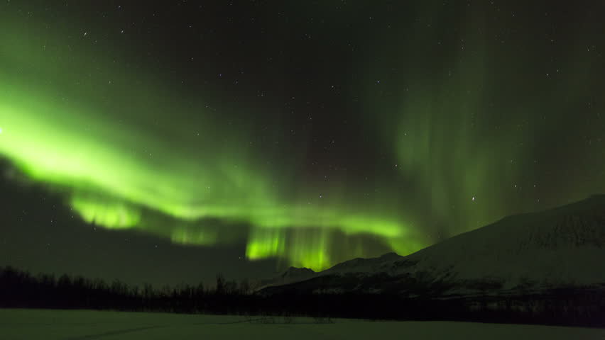 NORWAY - CIRCA JANUARY 2013: Aurora Borealis, Northern Lights, Troms region, Norway | Shutterstock HD Video #6049922