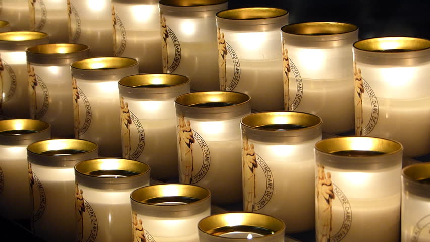 Prayer Candles in Notre Dame Stock Footage Video (100% Royalty-free)  6066182 | Shutterstock
