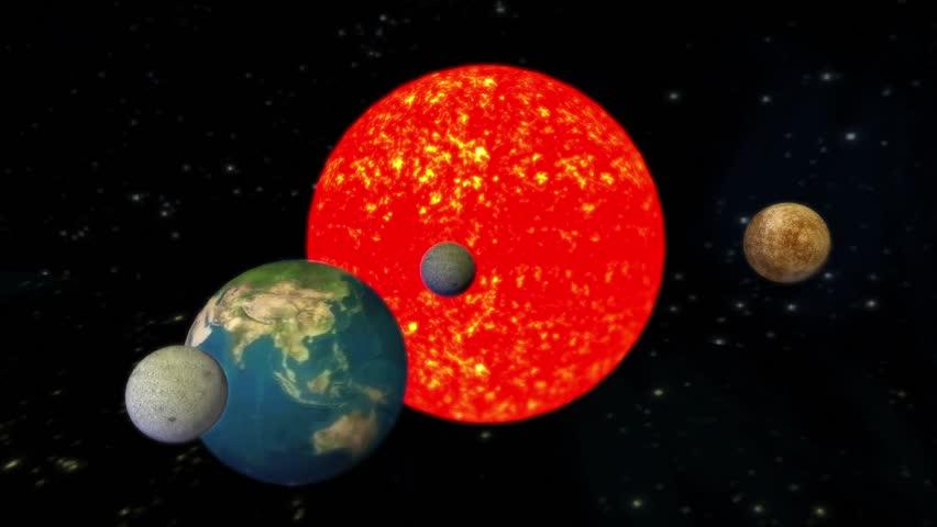 The Solar System Planets UniversePlanets Orbiting Sun Cg 01078