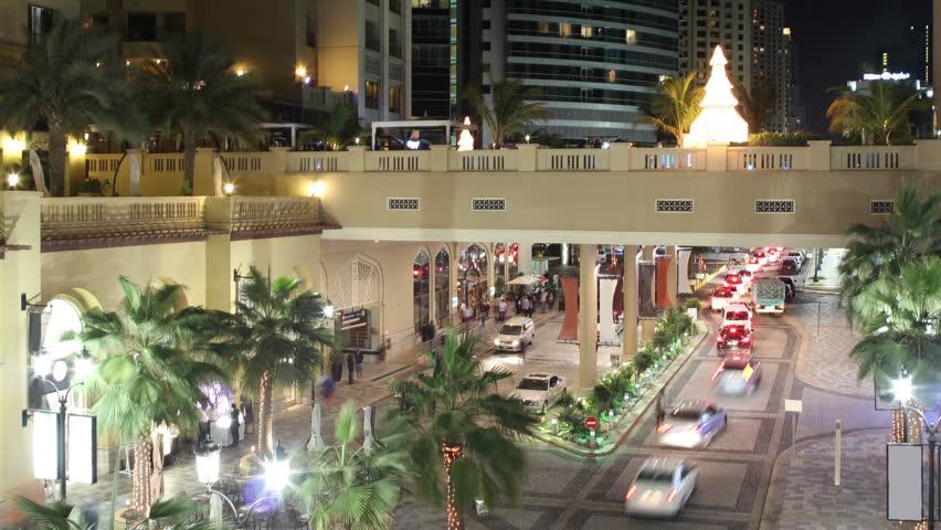 Tourist street time lapse from dubai marina uae   Shutterstock HD Video #6220742