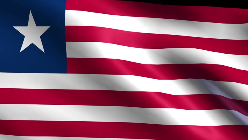 Flag of Liberia Background Seamless Stock Footage Video (100% Royalty-free)  6262682 | Shutterstock