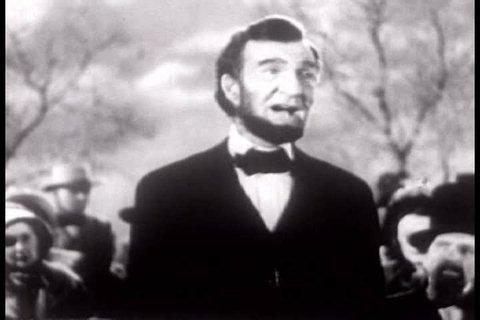 CIRCA 1950s - A 1951 reenactment of President Lincoln's Gettysburg Address.