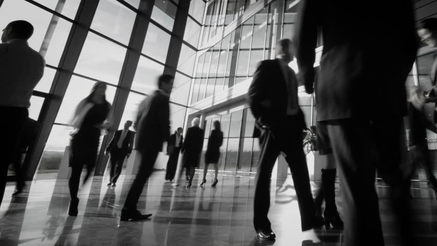 Time lapse of diverse business group in a large modern corporate building | Shutterstock HD Video #6283544
