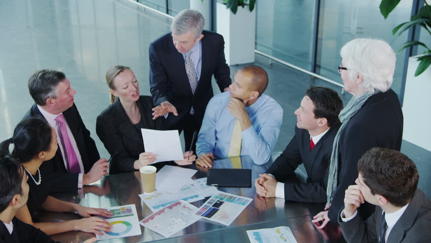 Cheerful diverse business group in a team meeting | Shutterstock HD Video #6284534