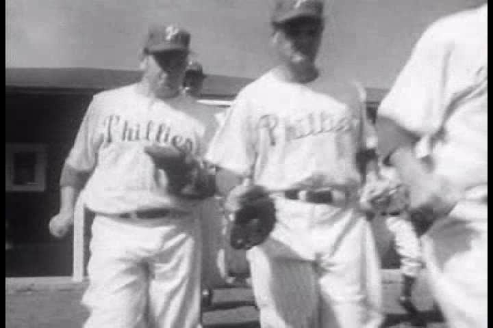 CIRCA 1950s - The New York Yankees and the Philadelphia Phillies get ready for the 1951 baseball season.