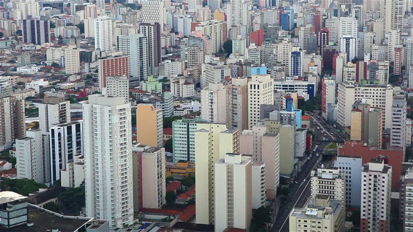Aerial shot of Sao Paulo City | Shutterstock HD Video #6289532