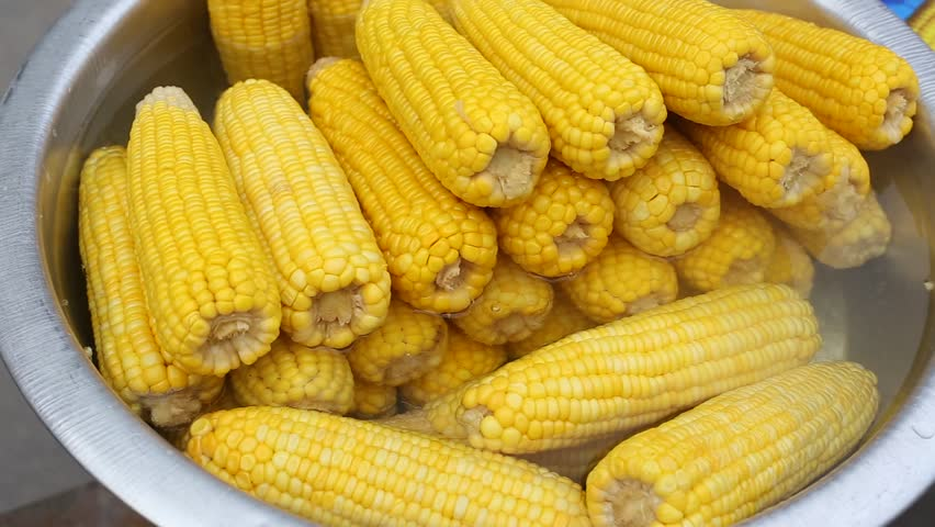 Boiled sweet corn for sell in the market stock footage video streaming of corn in pot at outdoor marketplace thailand hd stock footage clip ccuart Choice Image