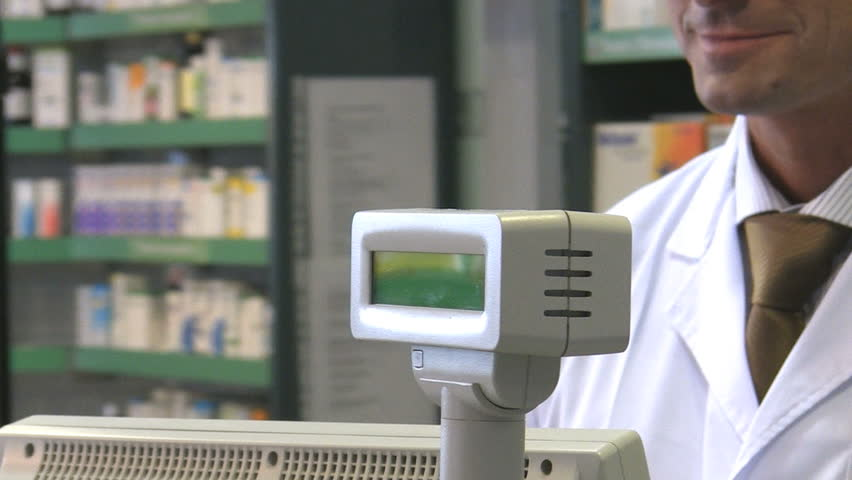 Cropped view of woman paying pharmacist. HD 30 fps