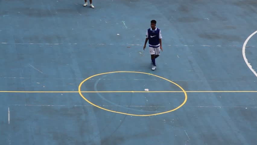 BANGKOK,THAILAND - MAY 10: Youth participating on the neighborhood sports futsal competition in National Stadium ,Bangkok,Thailand, May 10,2014.