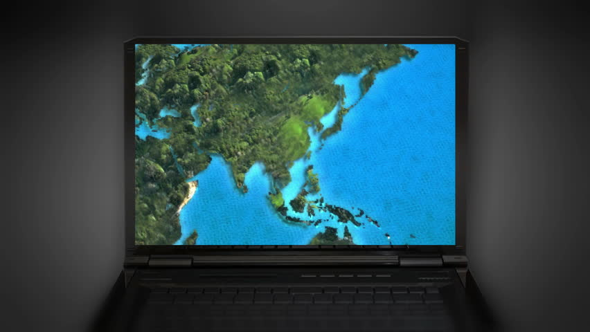 The world map animation on the laptop screen animation is the world map animation on the laptop screen animation is representing the travel connection and business theme etc stock footage video 6399812 gumiabroncs Images