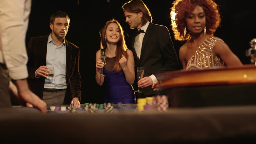 MS Players in the Casino wait excitedly for the outcome of the Roulette Table