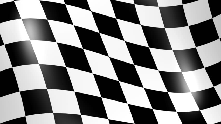 Racing Flag 3d Animation Stock Footage Video 100