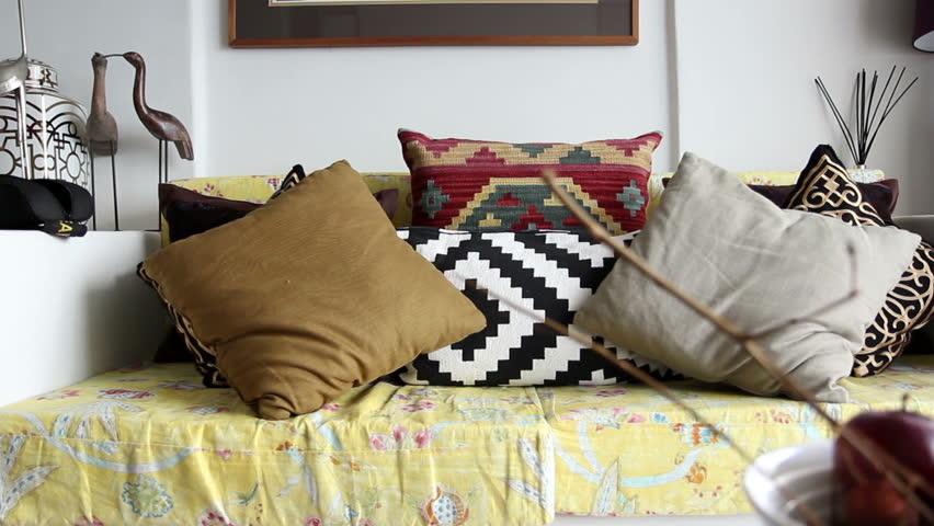 Dolly shot of modern living room #6445013
