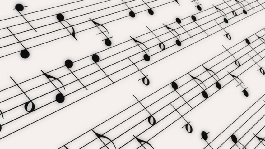 Music notes flowing on white background seamless animation hd 1080 looping music notes animated background hd stock video clip voltagebd Image collections