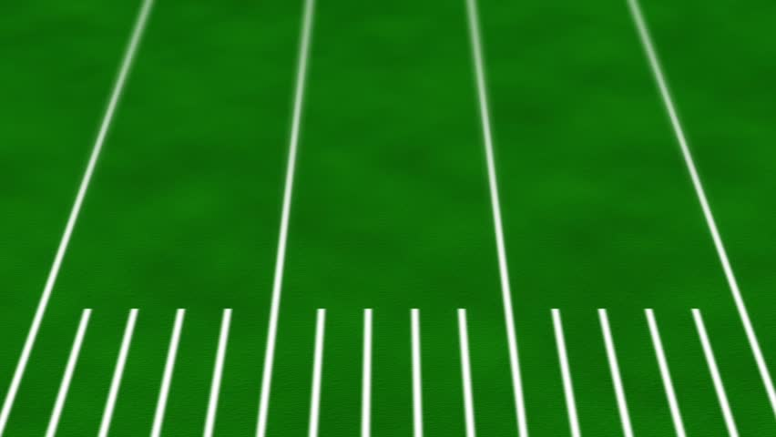 HD Gridiron Loop - Football field moves to the left seamlessly in HD 720p background loop