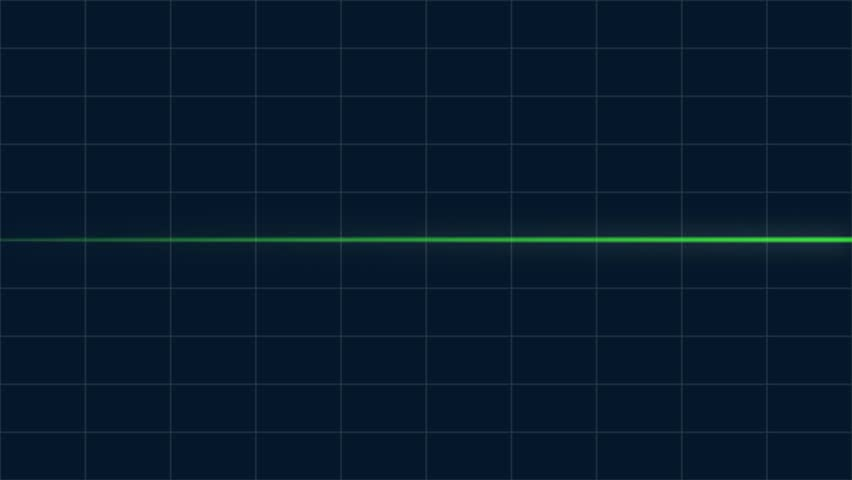 Animated Loop Able Heart Beat Graphic Blue Graph