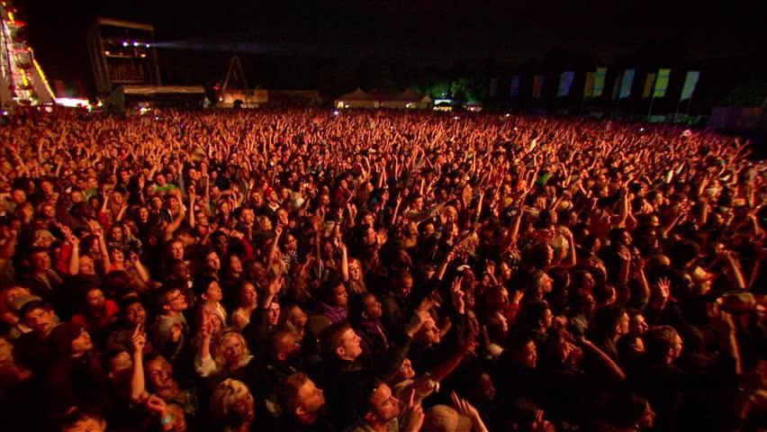 Victoria Park, London UK: 2012 - EXT Concert Crowd Festival Night