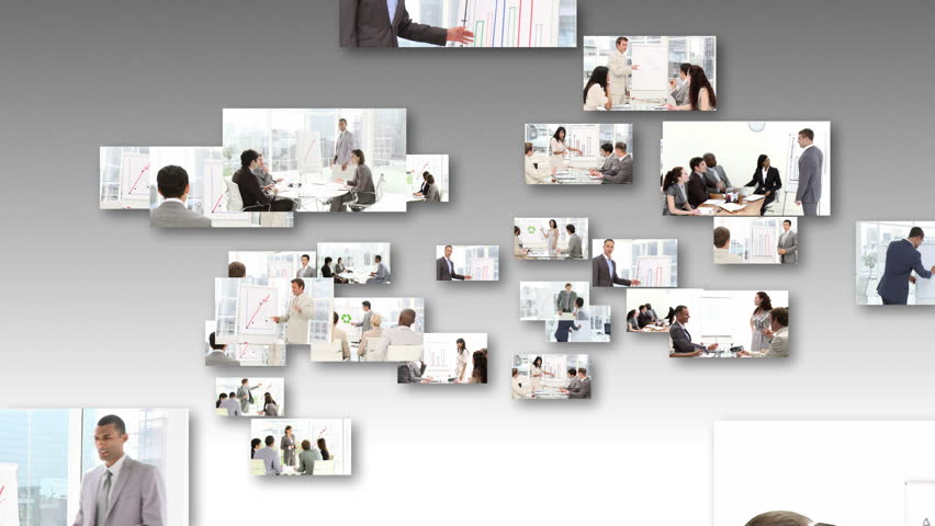 Montage of People Giving an office Presentation