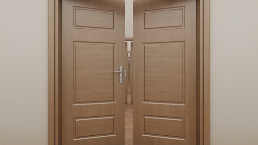 Categories & Stock video of pass enfilade open doors. | 6549002 | Shutterstock