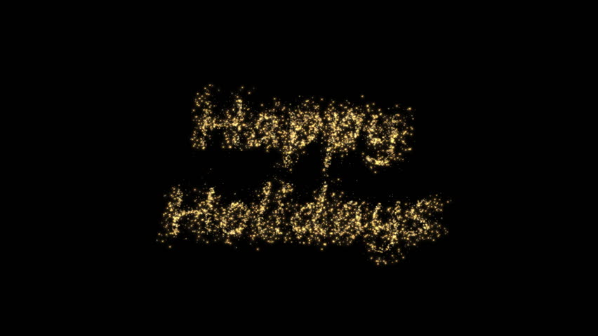 Happy Holiday with stars on black background | Shutterstock HD Video #658012